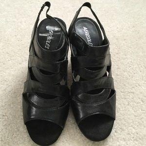 Aerosols Size 8 Black heels.